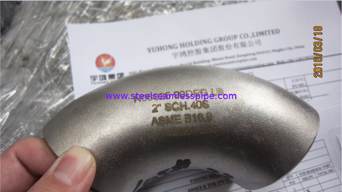 ASTM B366 Inconel 625 Tee Elbow Reducer Cross Butt Weld Fittings ANSI B16.9 , Penetrant Inspection