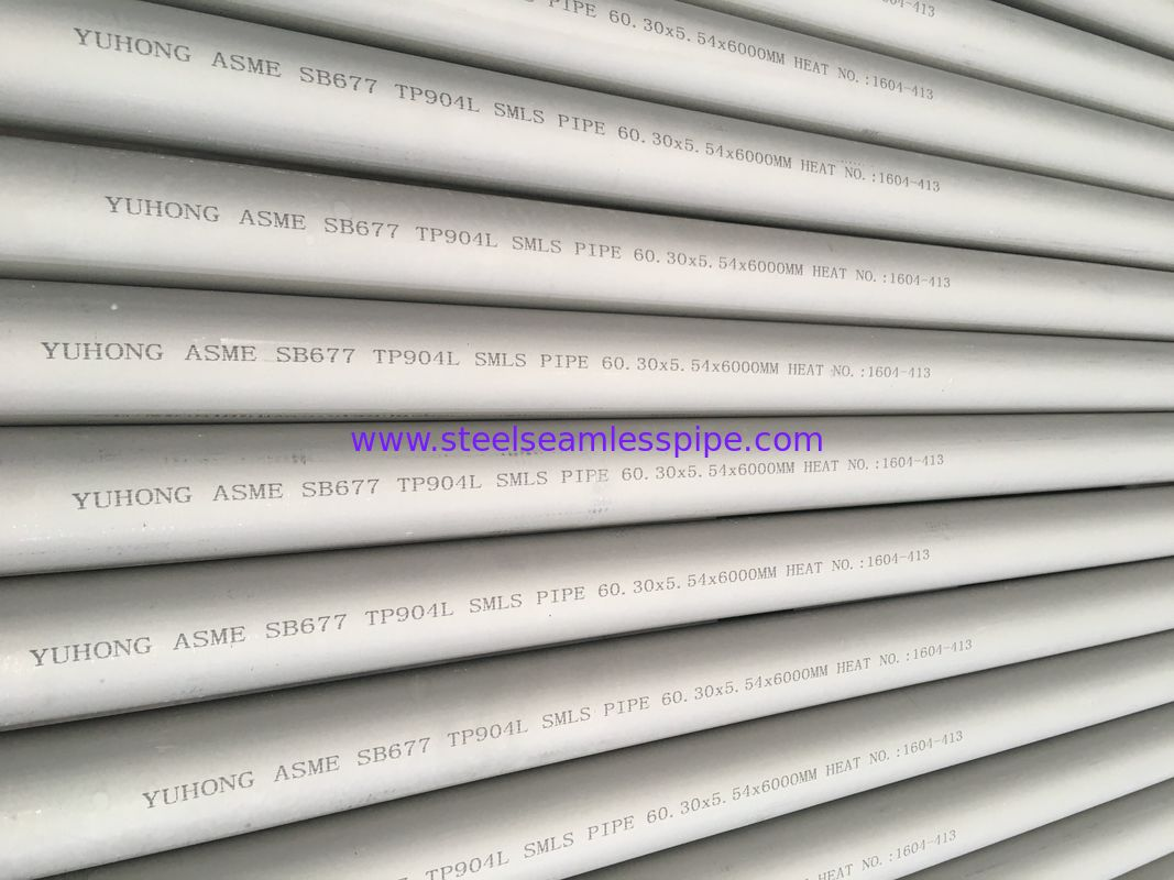 ASME SB677 UNS N08904  Heat Exchanger Stainless Steel Seamless Tube TP904L Boiler Tube To Malaysia