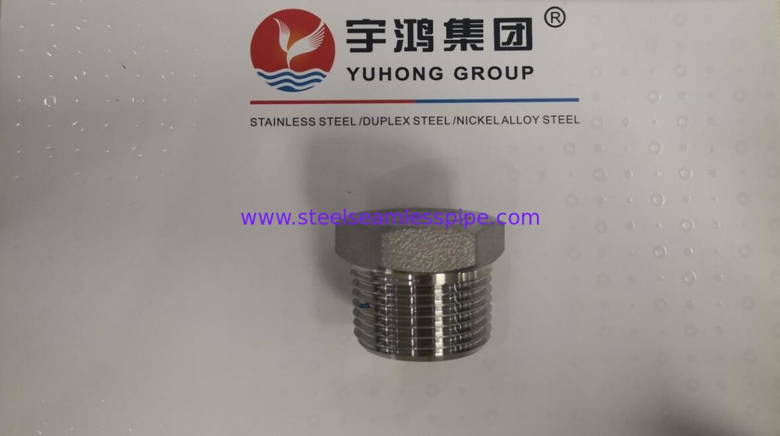 "SS316L Stainless Steel Hex Plug Size 1"" CLASS 3000 ASME B16.11 Standard"