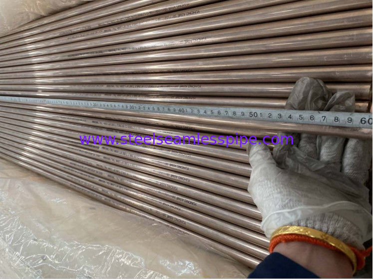 OD 19.05MM Copper Alloy Tube ASTM B111 C70400 C70600 Seamless  Welded Tubing